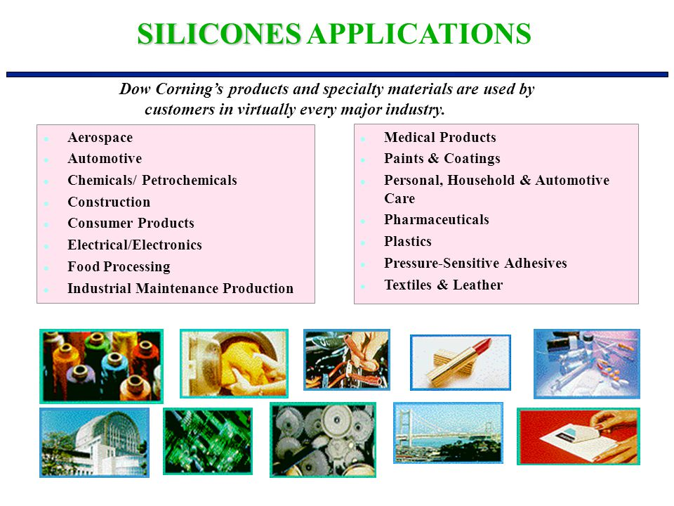 SILICONES APPLICATIONS