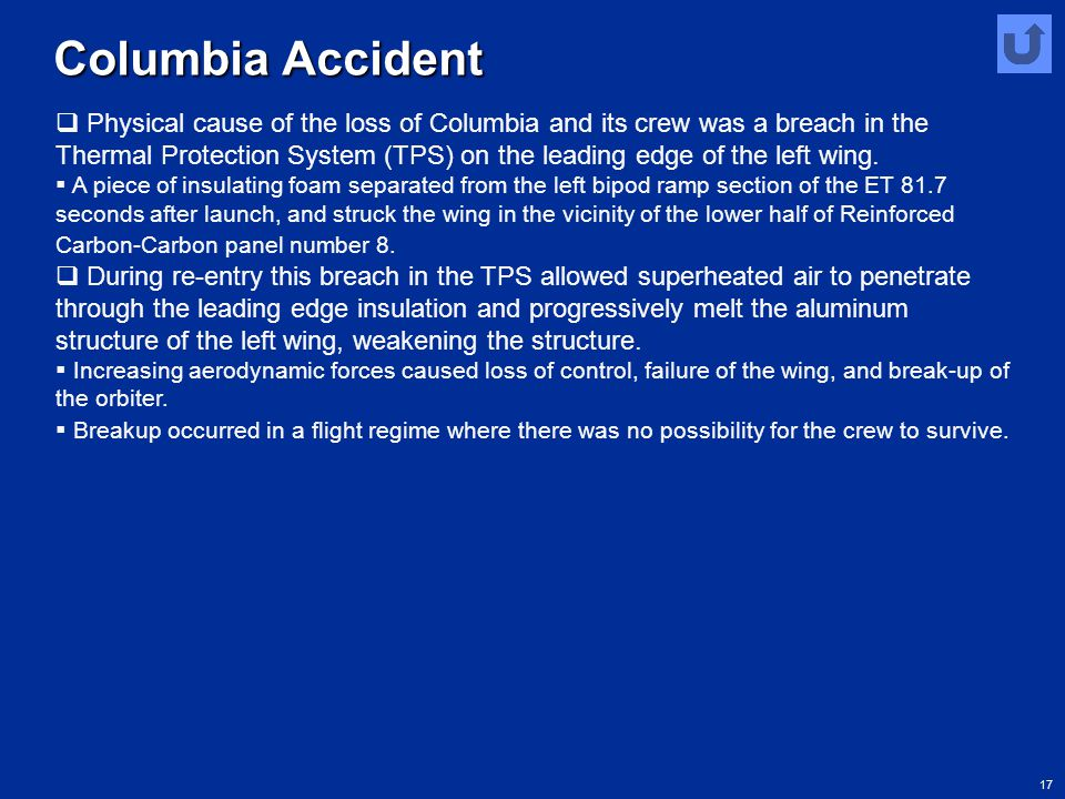 Columbia Accident