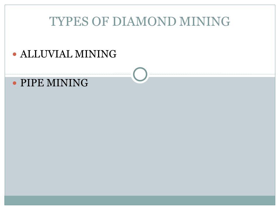 TYPES OF DIAMOND MINING