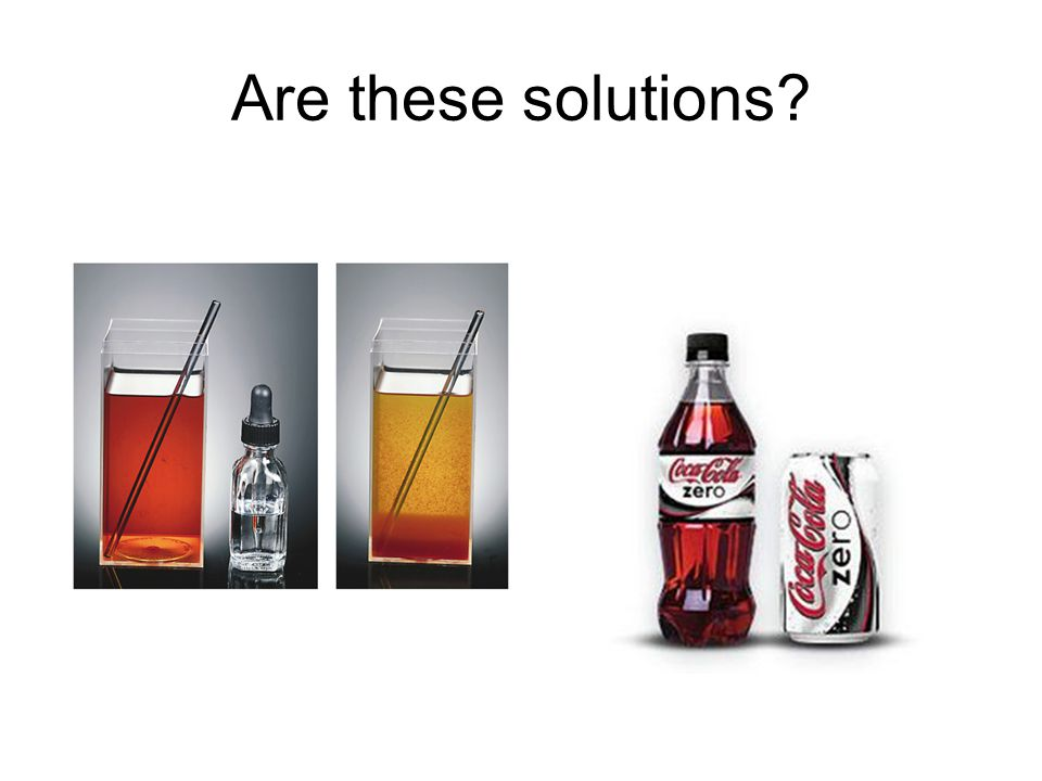 Are these solutions