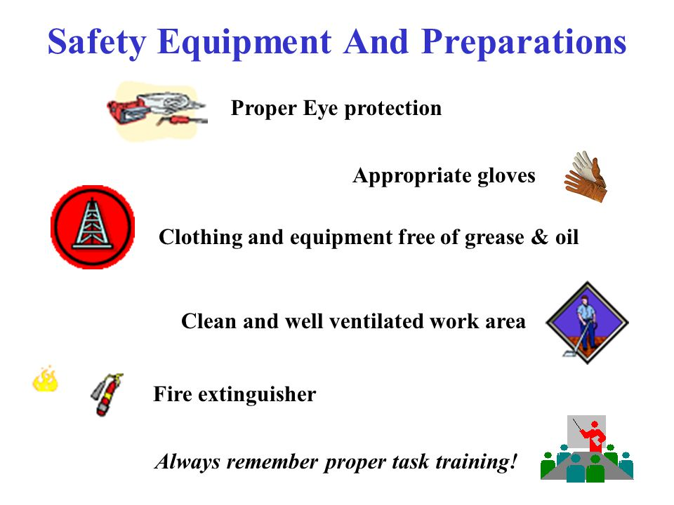 Safety Equipment And Preparations