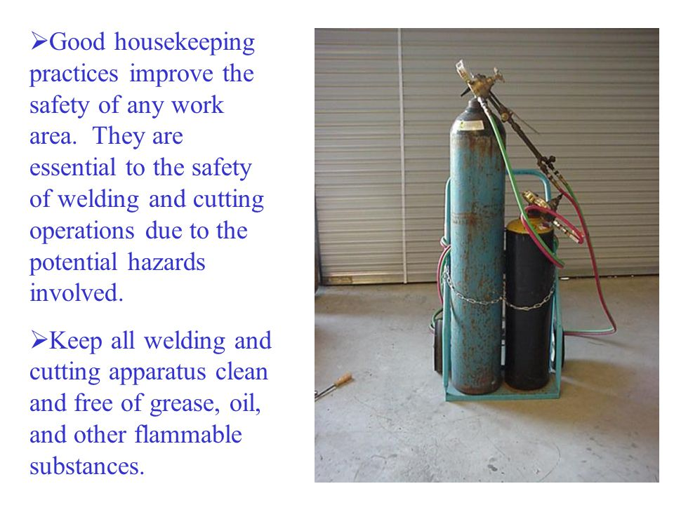 Good housekeeping practices improve the safety of any work area