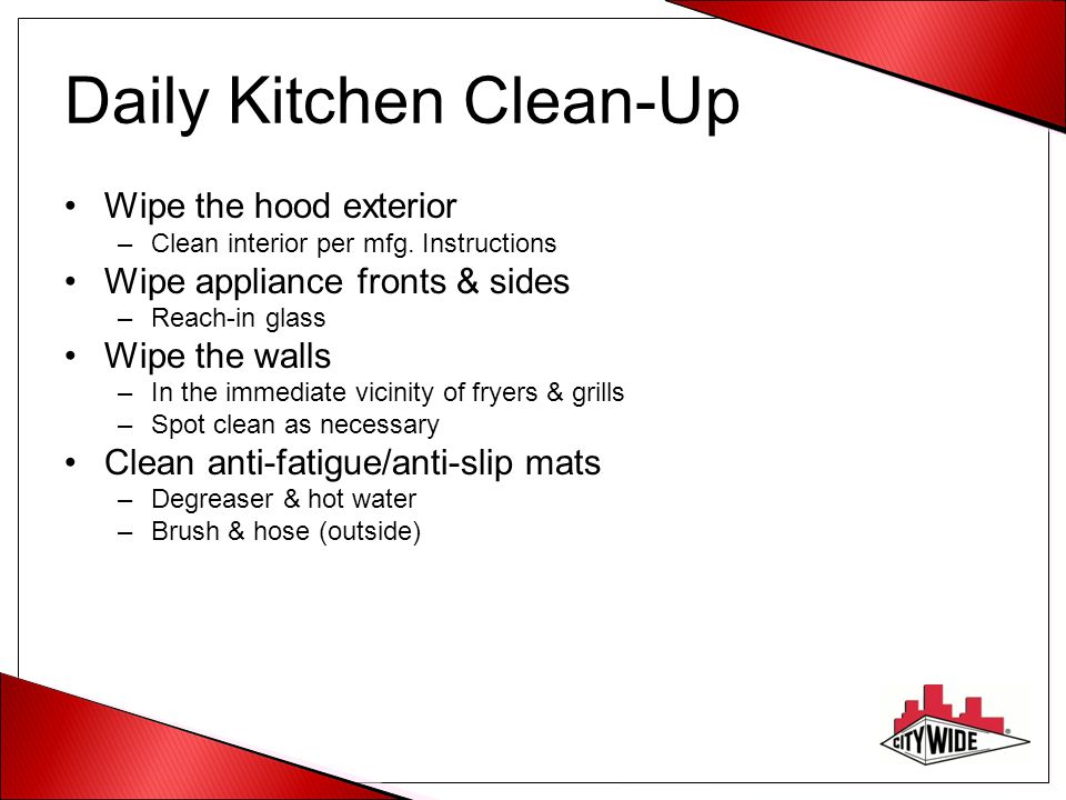 Daily Kitchen Clean-Up