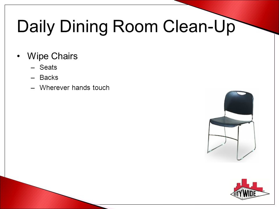 Daily Dining Room Clean-Up