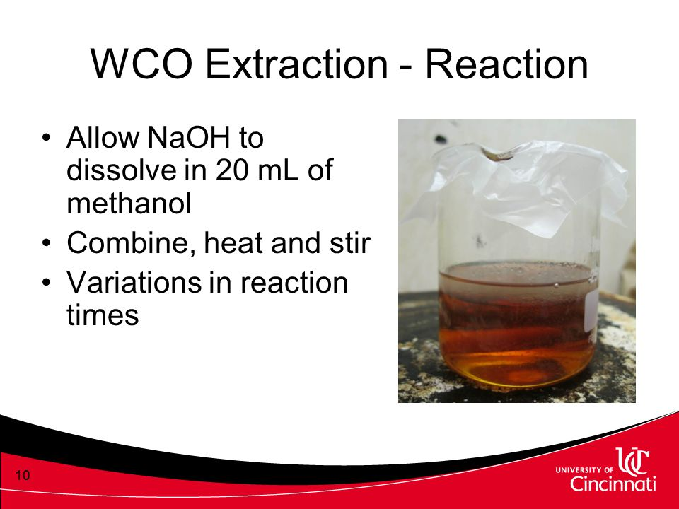 WCO Extraction - Reaction