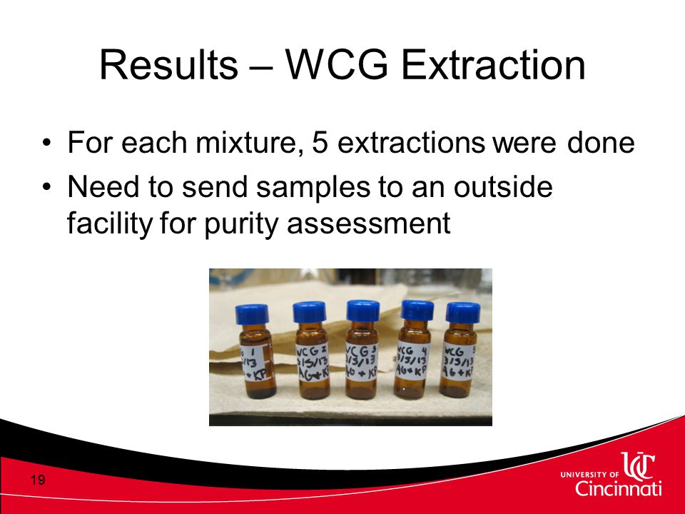 Results – WCG Extraction