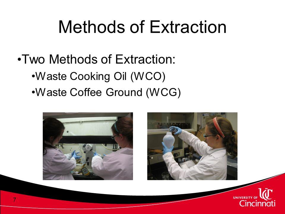 Methods of Extraction Two Methods of Extraction: