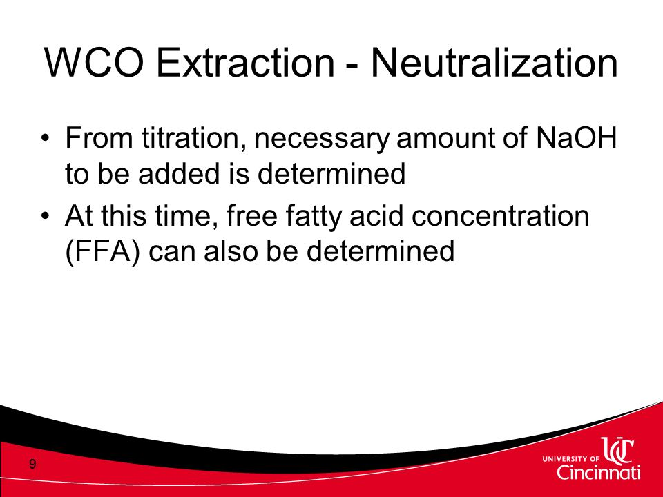 WCO Extraction - Neutralization