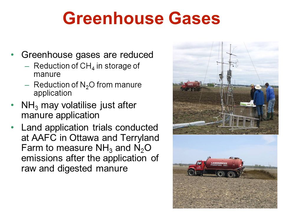 Greenhouse Gases Greenhouse gases are reduced