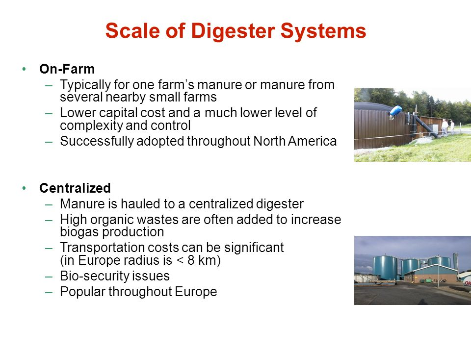 Scale of Digester Systems