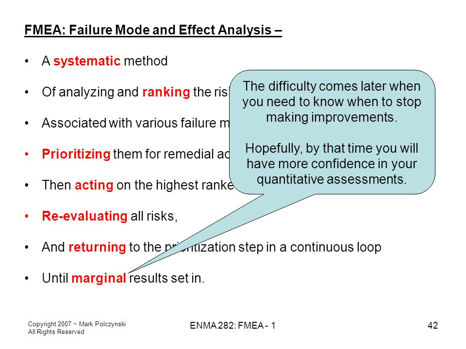FMEA: Failure Mode and Effect Analysis – A systematic method