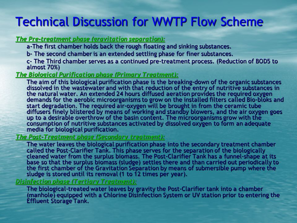 Technical Discussion for WWTP Flow Scheme