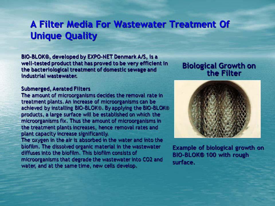A Filter Media For Wastewater Treatment Of Unique Quality