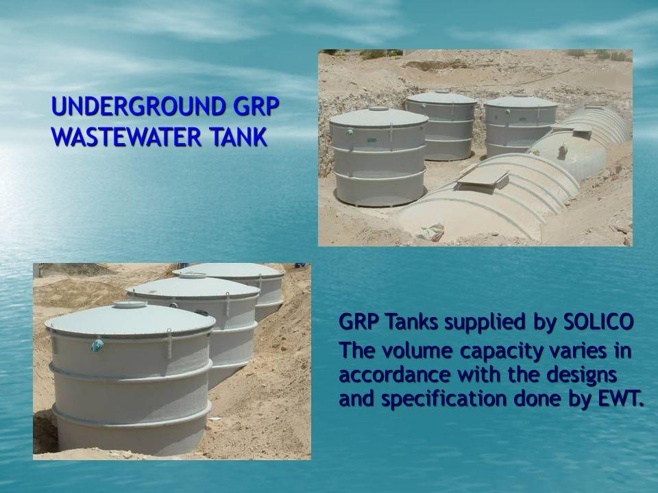 UNDERGROUND GRP WASTEWATER TANK