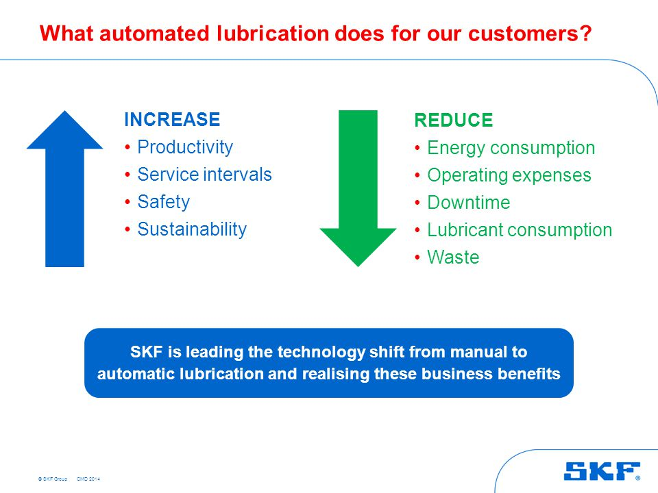 What automated lubrication does for our customers