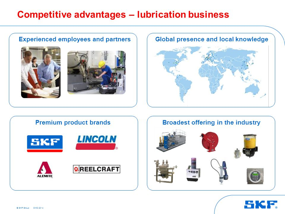 Competitive advantages – lubrication business