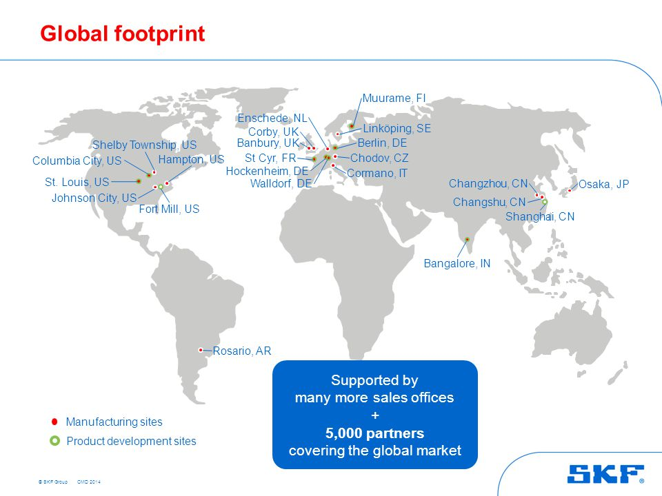 Global footprint Supported by many more sales offices +