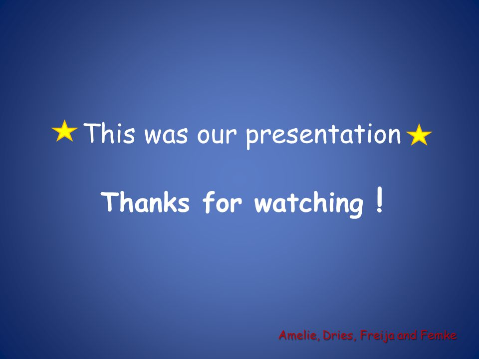 This was our presentation Thanks for watching !