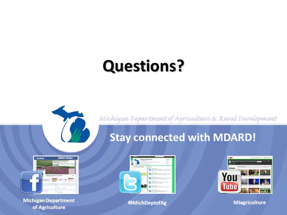Stay connected with MDARD!