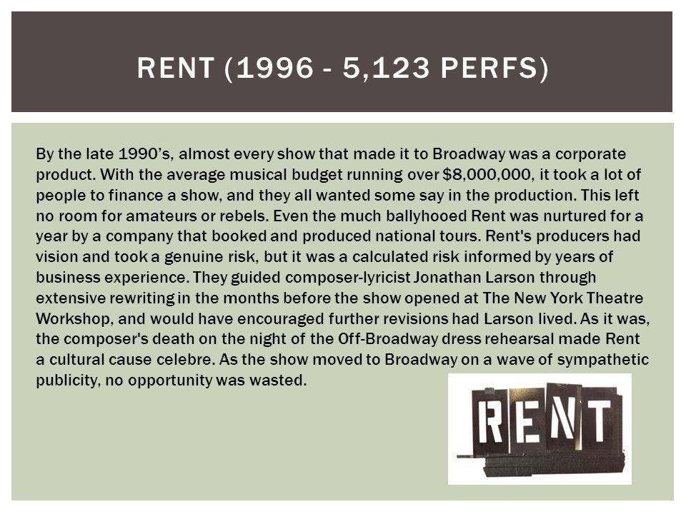 Rent (1996 - 5,123 perfs)