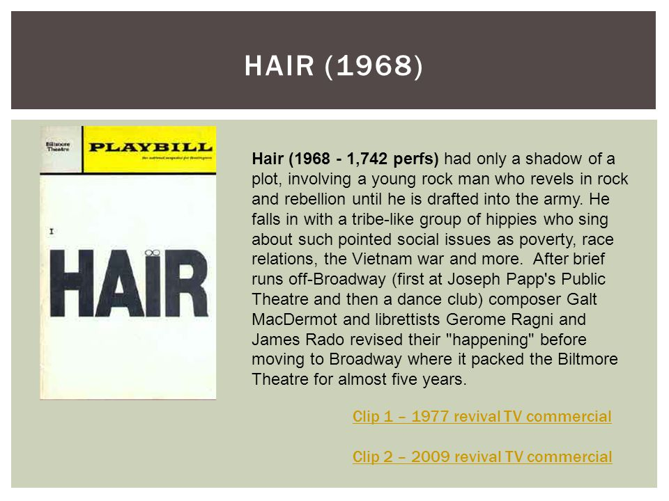 HAIR (1968)