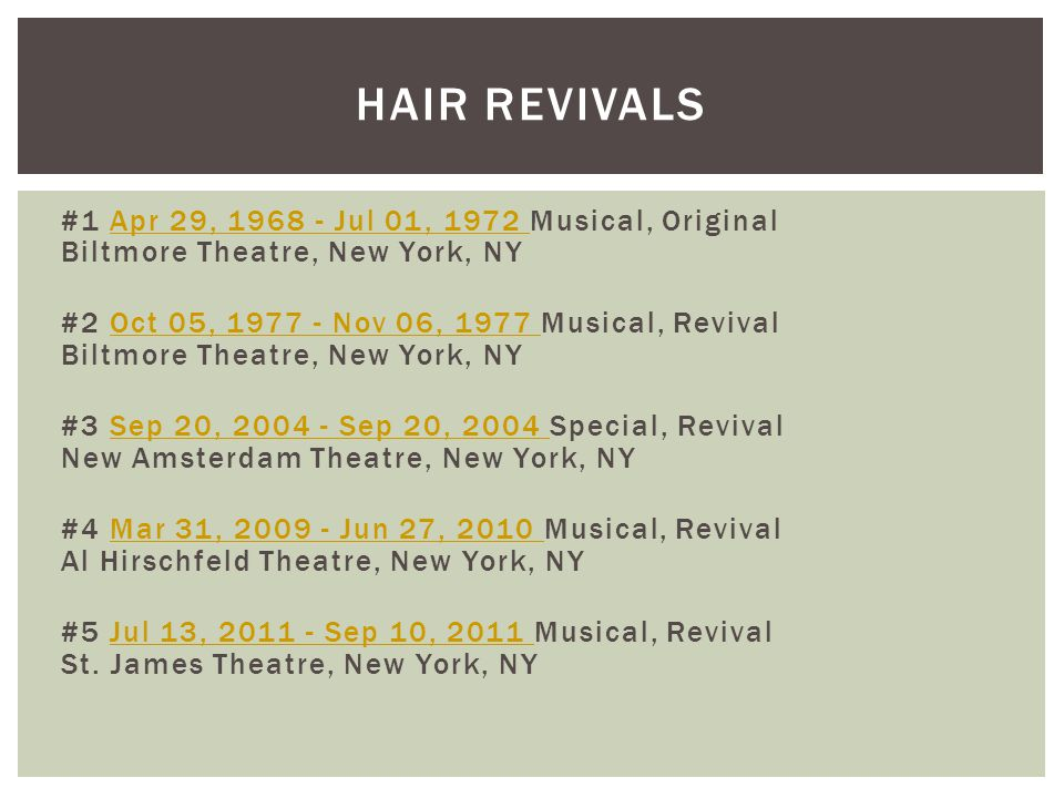 Hair REVIVALS