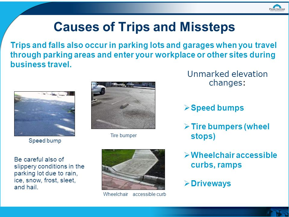 Causes of Trips and Missteps
