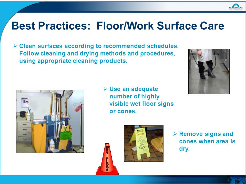 Best Practices: Floor/Work Surface Care