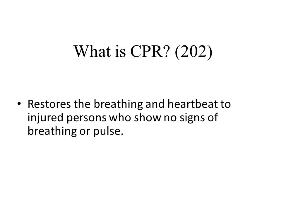 What is CPR.