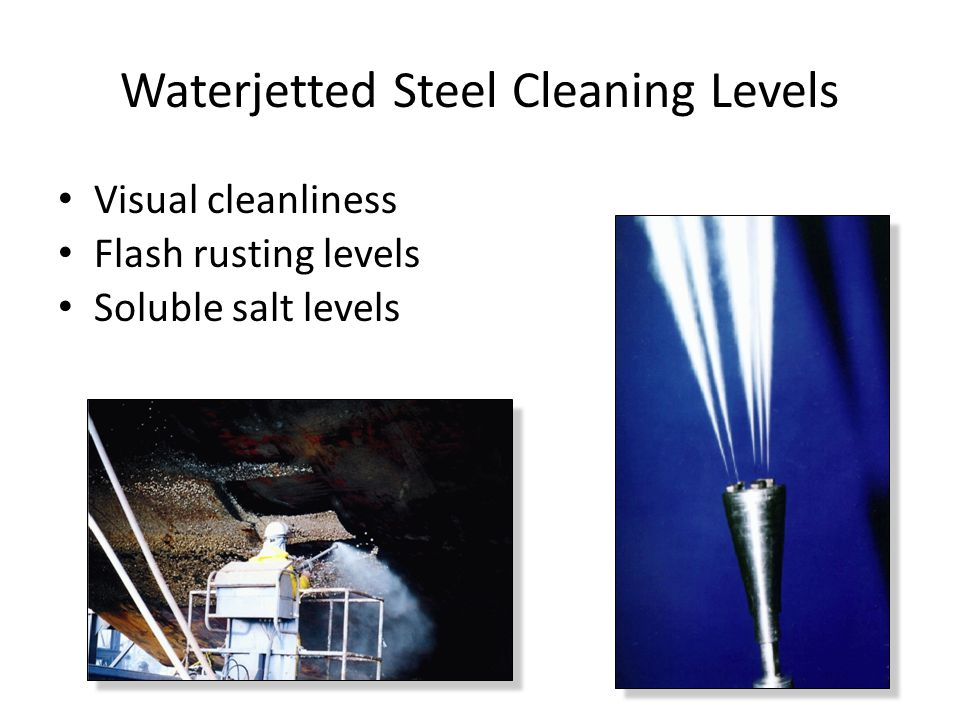 Waterjetted Steel Cleaning Levels