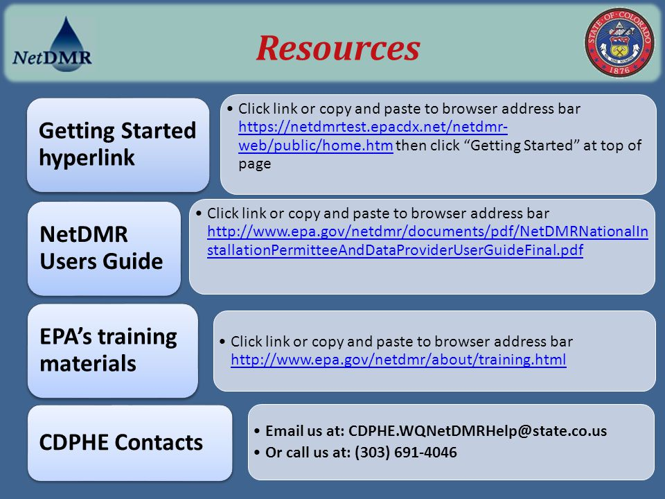 NetDMR Permittee Training Program