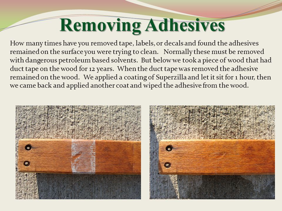 Removing Adhesives