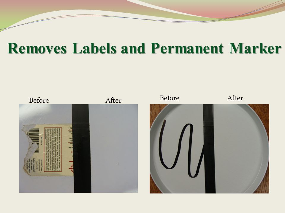 Removes Labels and Permanent Marker