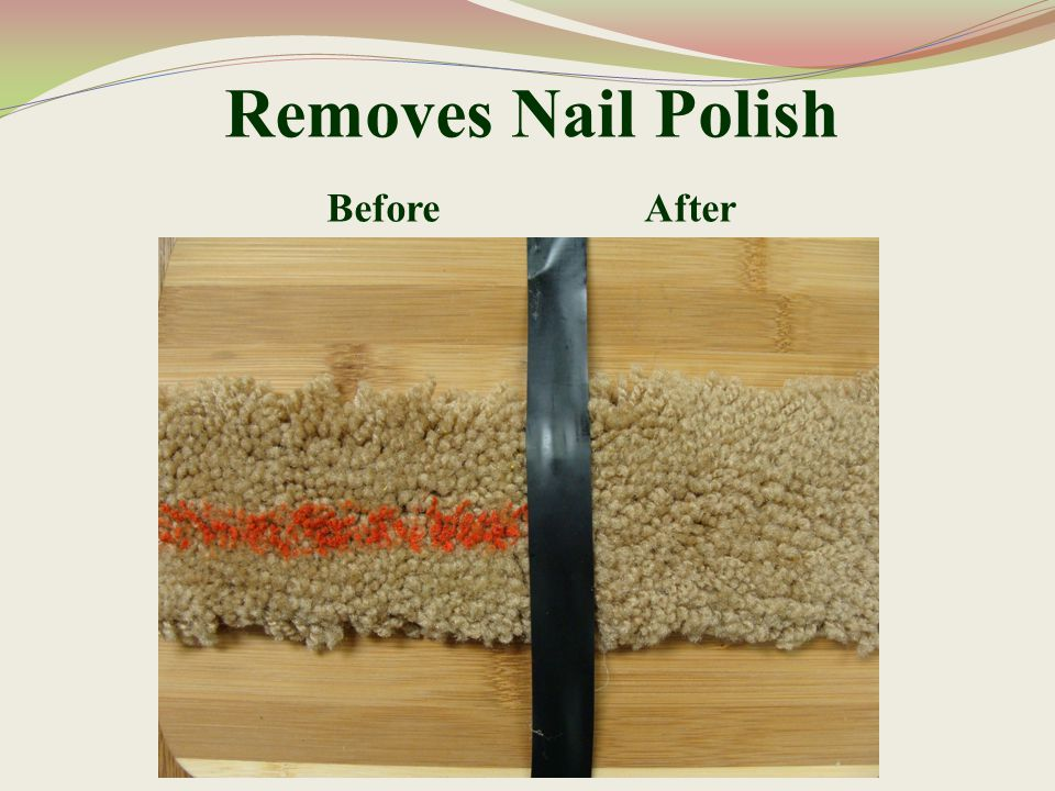 Removes Nail Polish Before After