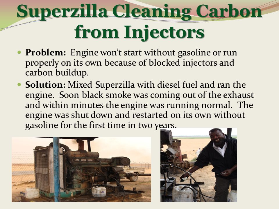 Superzilla Cleaning Carbon from Injectors