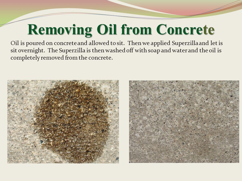 Removing Oil from Concrete