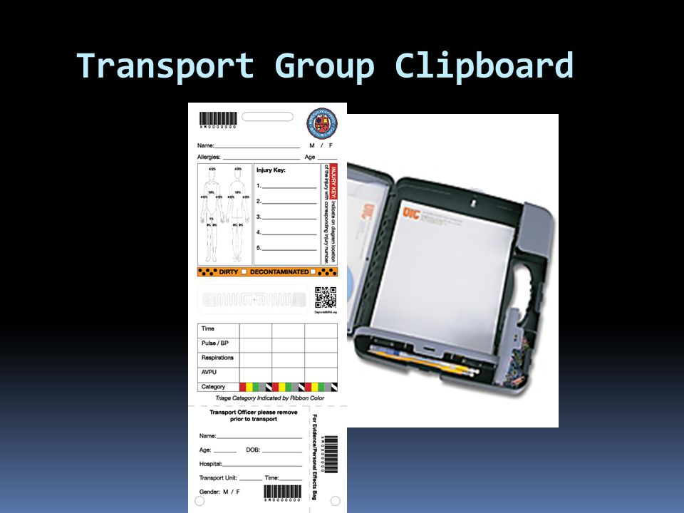 Transport Group Clipboard