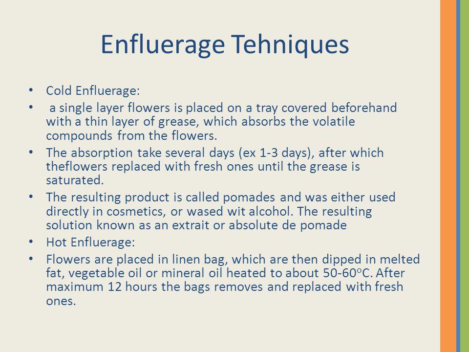 Enfluerage Tehniques Cold Enfluerage: