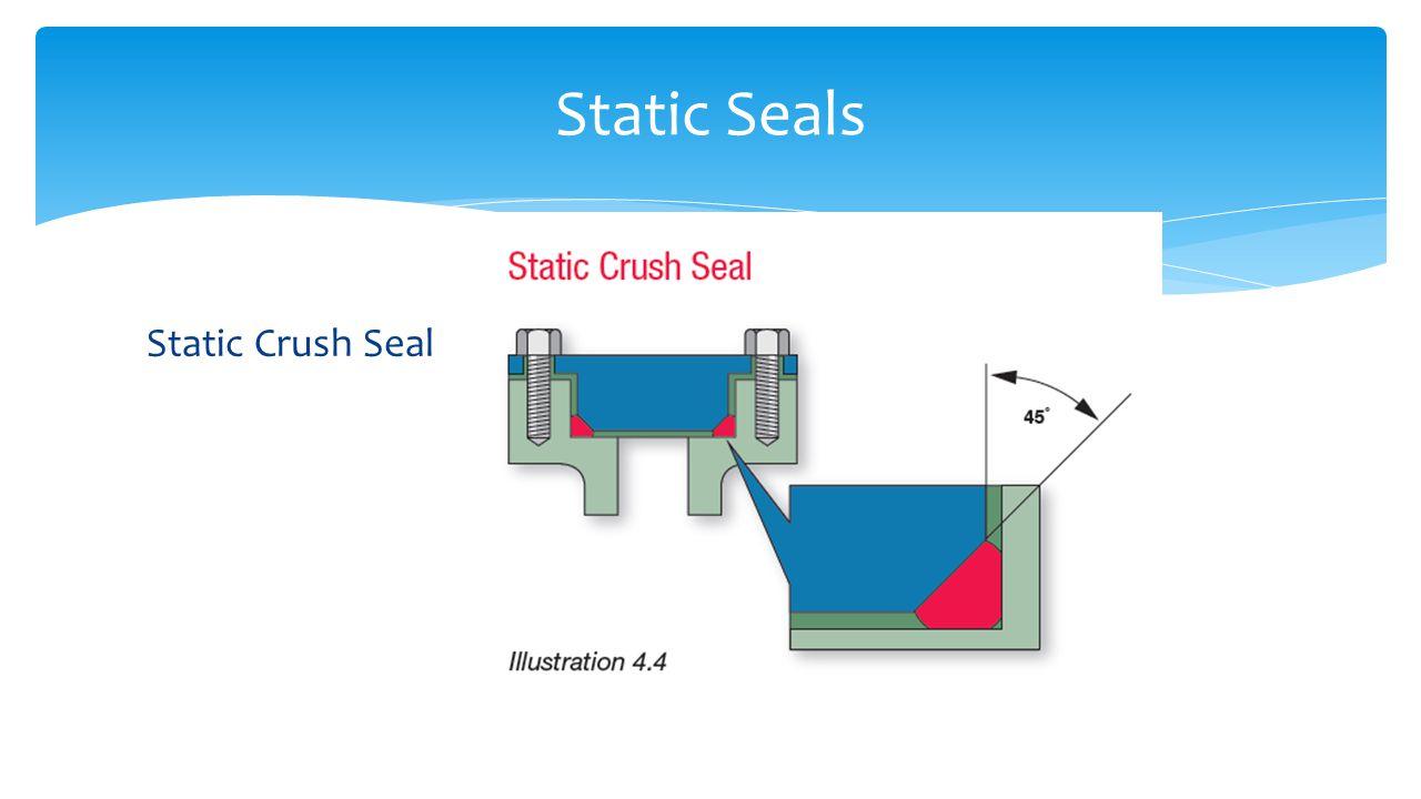 Static Seals Static Crush Seal