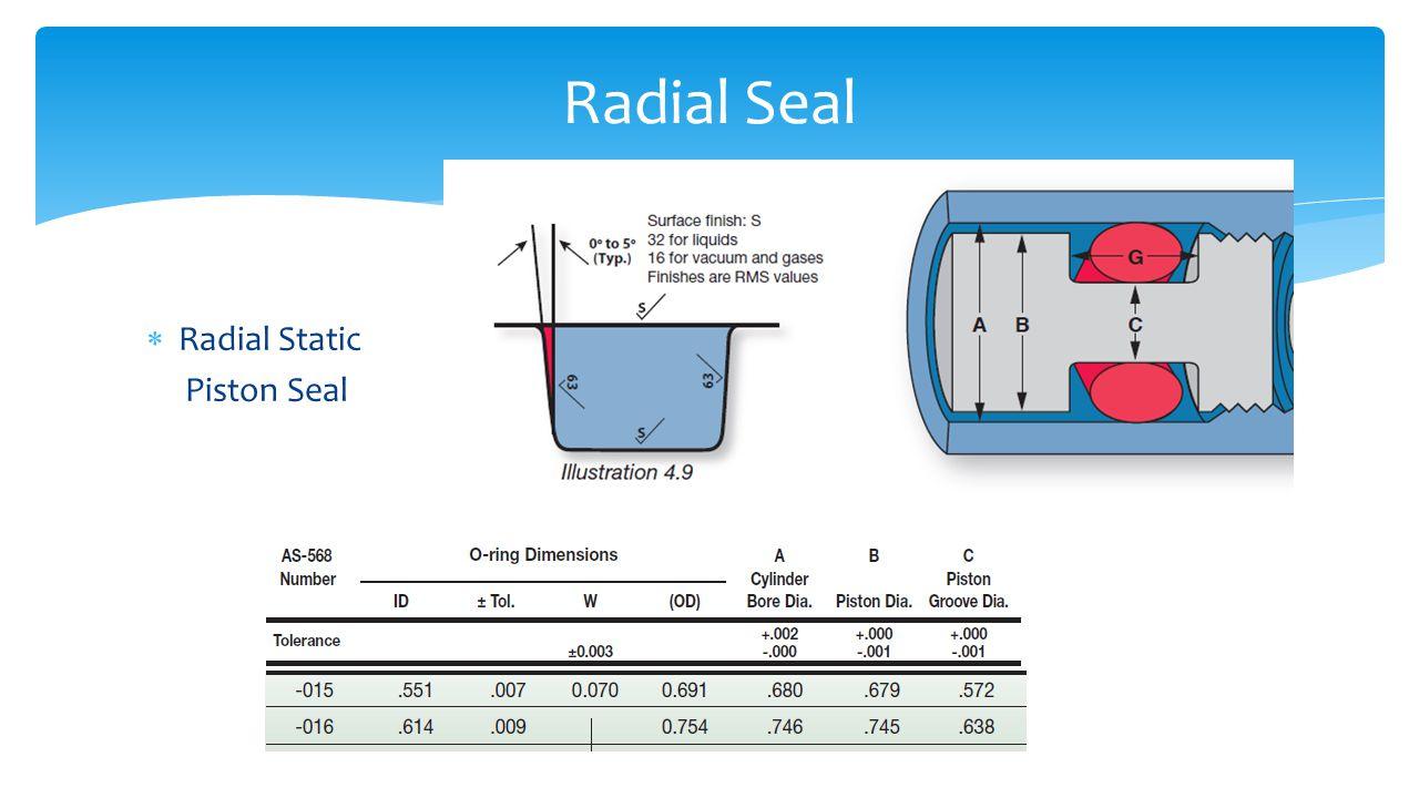Radial Seal Radial Static Piston Seal