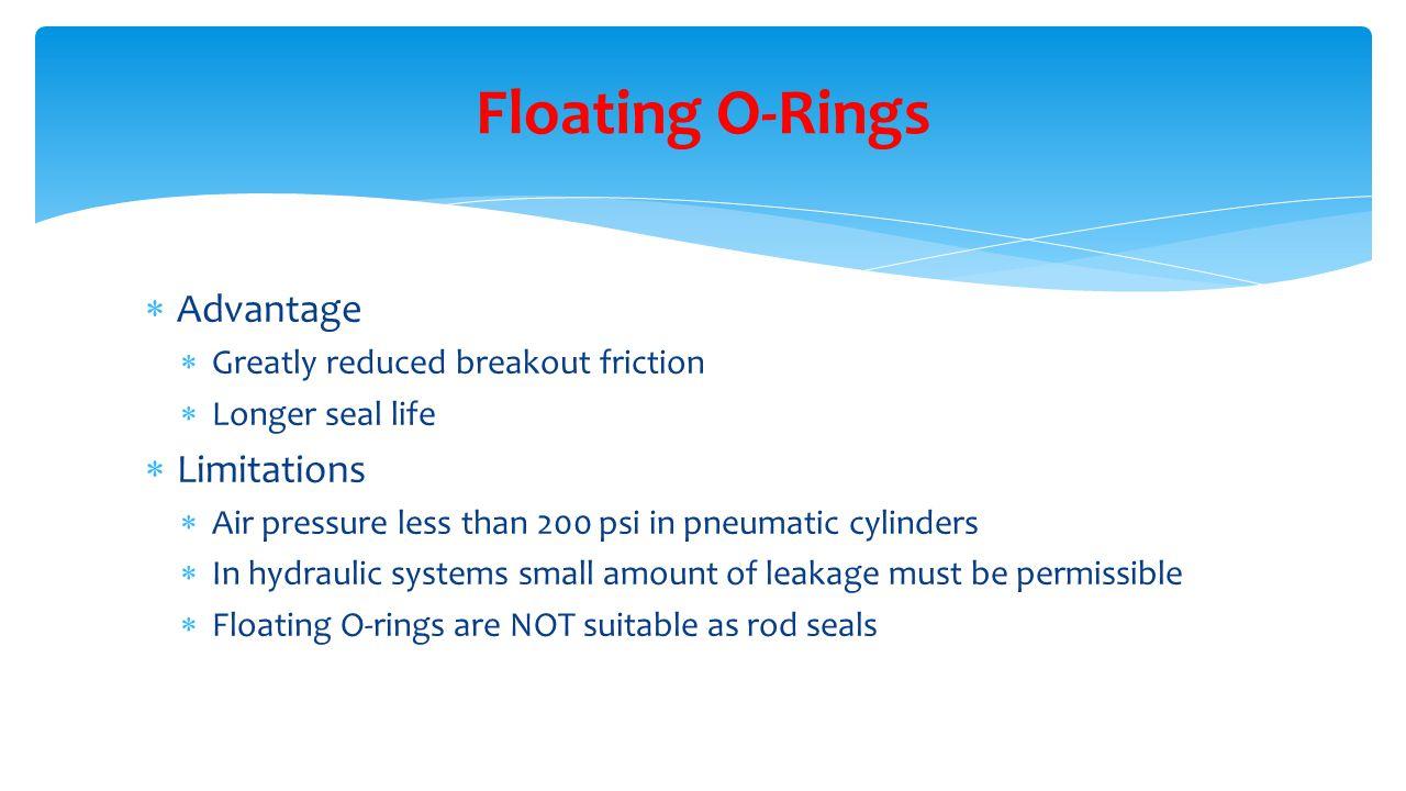 Floating O-Rings Advantage Limitations