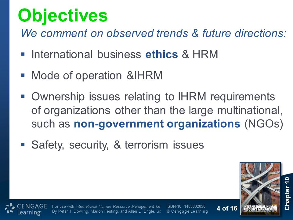 Objectives We comment on observed trends & future directions: