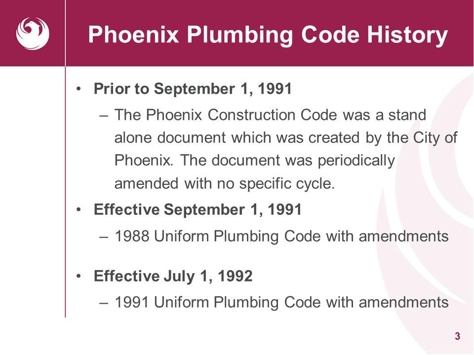Phoenix Plumbing Code History