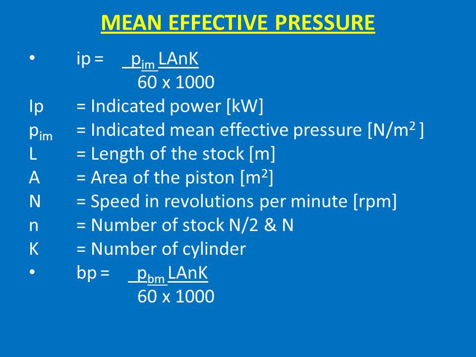 MEAN EFFECTIVE PRESSURE