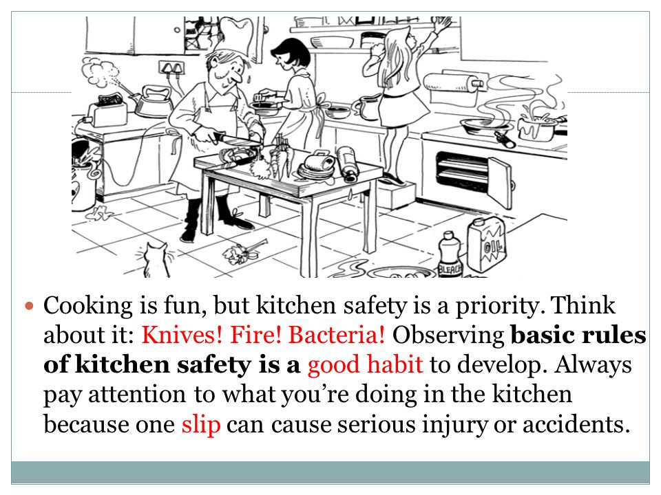 Safety in the kitchen ppt video online download for 3 kitchen safety rules