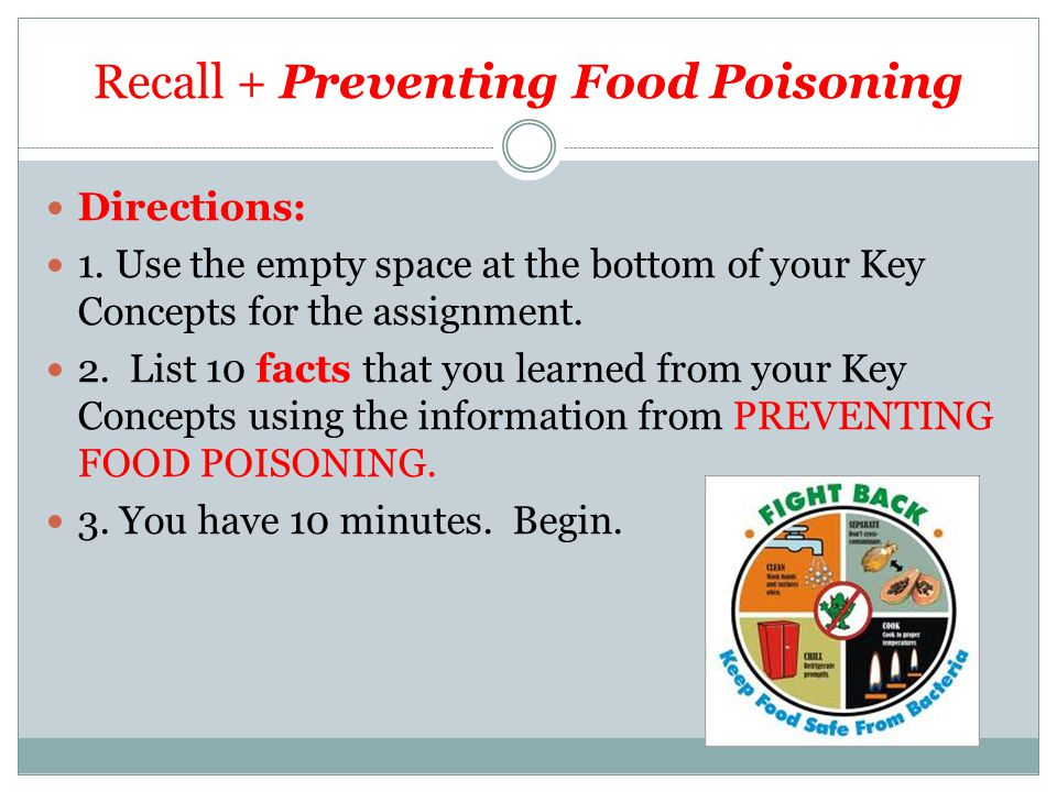 Recall + Preventing Food Poisoning