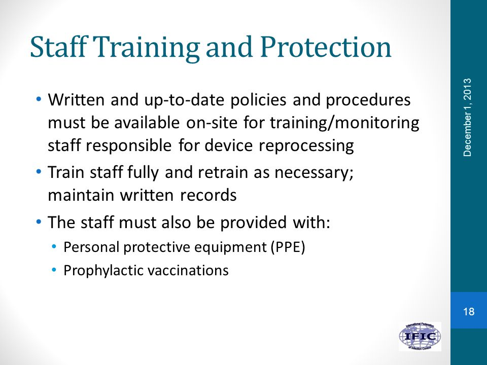 Staff Training and Protection