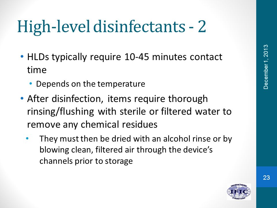 High-level disinfectants - 2