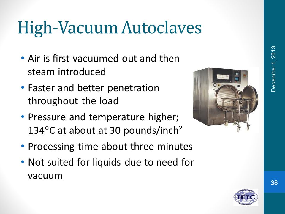 High-Vacuum Autoclaves