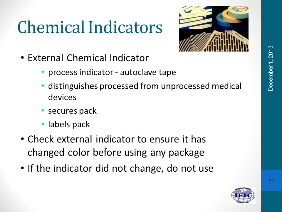 Chemical Indicators External Chemical Indicator